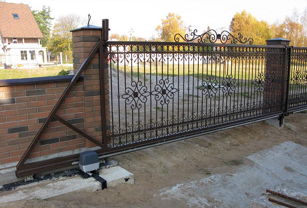 Смотреть формы железных откатных ворот устройство для фундамента ворот откатных